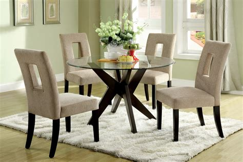 tempered glass top dining table set  small spaces