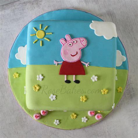peppa pig template for cake peppa pig cake bakes