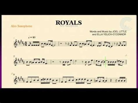 printable lyrics to royals royals lorde alto saxophone sheet music chords and
