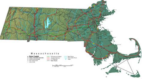mass map massachusetts map maps of massachusetts state