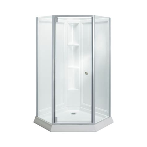 4 Shower Kit by Shop Sterling Solitaire White Wall High Impact Polystyrene