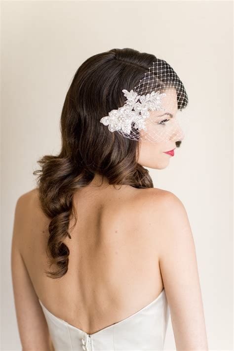 Bridal Hairstyles With Birdcage Veil by Pretty Wedding Hairstyle With Birdcage Veil Wedding