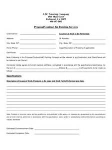 Contract Template by Painting Contract Template 2 Free Templates In Pdf Word