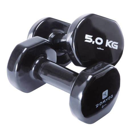 2x5 kg pvc dumbbells decathlon