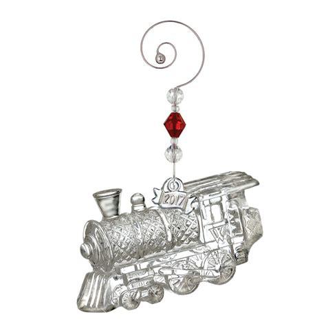 waterford crystal train engine ornament 2017 silver