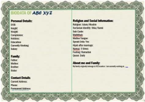 muslim marriage for boy templates bio data templates