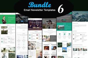 photo newsletter template 6 modern email newsletter template bundle free vector