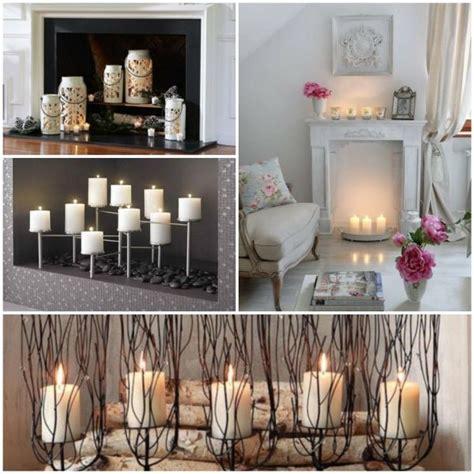 deko kamin deko kamin romantische stimmung mit kerzen und laternen