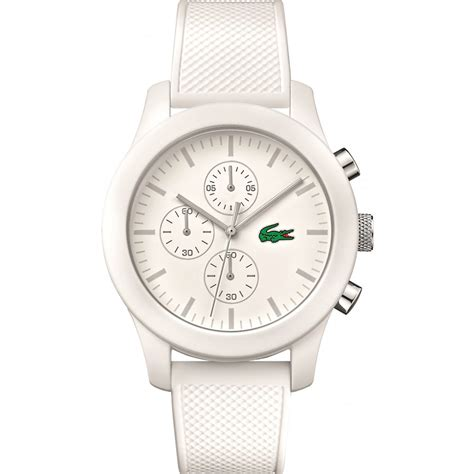 lacoste s white 12 12 rubber chronograph 2010823