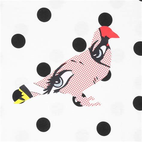 Pigeon Dot Eco S M L staple dot pigeon allover print white staple tees