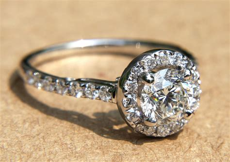 unique engagement rings wedding bands from etsy halo pave