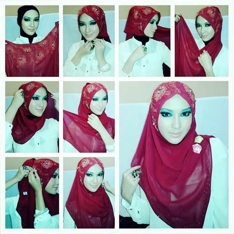 tutorial hijab pesta modern 2015 latest hijab style designs tutorials 2016 2017 with pictures