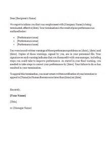 Sles Of Termination Letters To Employee by Termination Letter Template