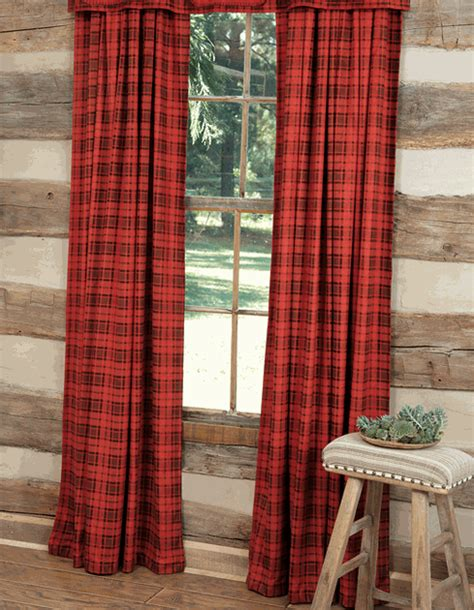 black forest home decor red plaid drapes