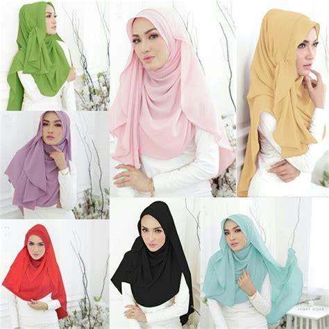 Jilbab Pashmina Instan jilbab pashmina instan shabil fashion lebaran 2017 bundaku net
