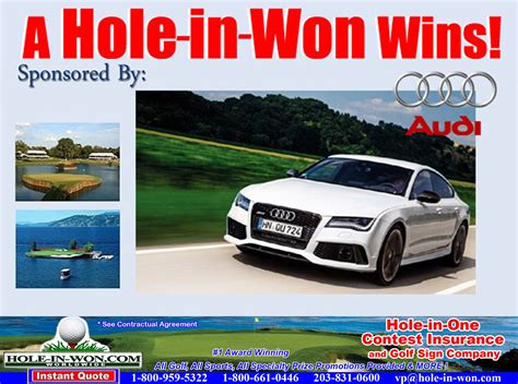 Audi Locher by Audi Hole In One Insurance Audi Golf Contest Insurance