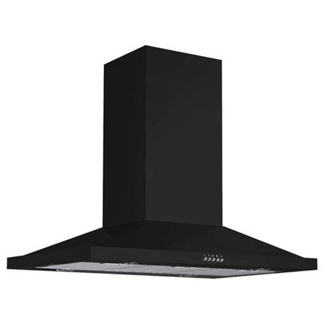 black stainless steel hood fan 36 quot artisan series stainless steel black island range hood