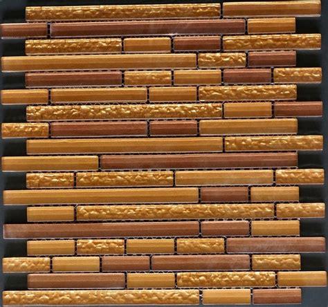 random pattern mosaic tile manhattan copper listello random pattern glasstextured