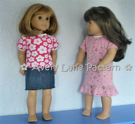 t shirt pattern for 18 inch doll 18 inch doll clothes sewing pattern audrey tee t shirt and