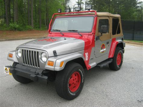 jeep artwork 2002 jeep wrangler jurassic park edition