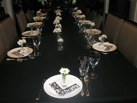 black and white table setting table settings momwhoruns