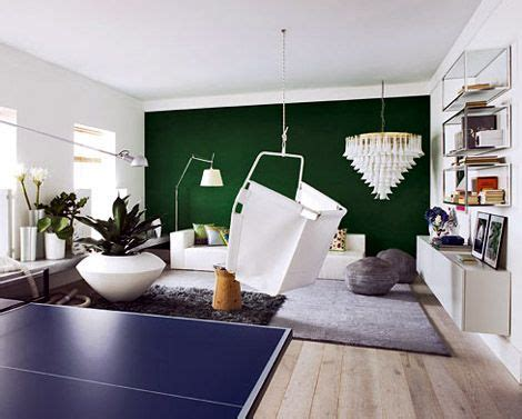 green accent wall emerald green accent wall royal blue ping pong table