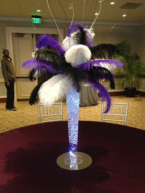 45 Best Ostrich Feather Centerpieces Images On Pinterest Feather For Centerpieces