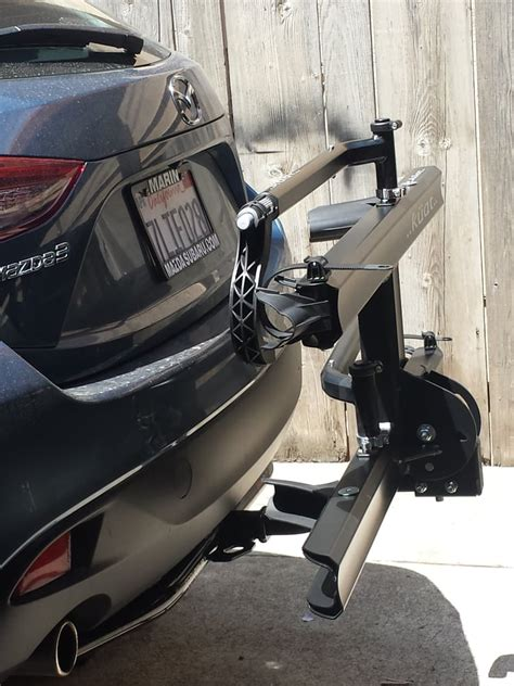 2015 mazda 3 sedan hatchback with a 1 1 4 trailer hitch