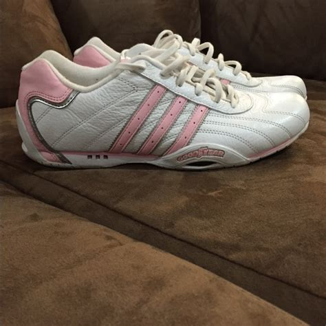 78 adidas shoes adidas goodyear white with pink stripes from s closet on poshmark