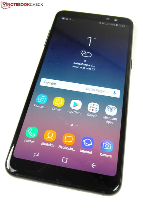 Samsung A8 Review samsung galaxy a8 2018 smartphone review notebookcheck