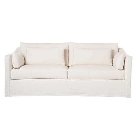 84 inch sectional cisco brothers rebecca denim white coastal style slip