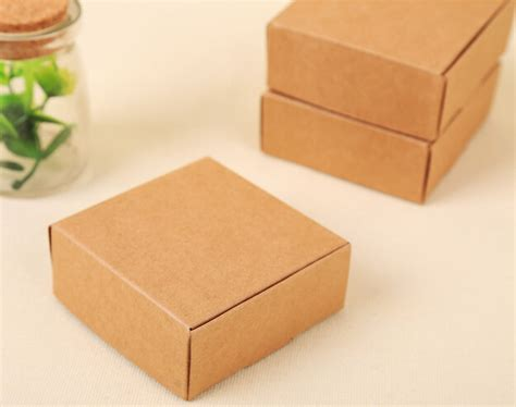Craft Paper Box - kraft paper gift box craft handmade soap packaging boxes