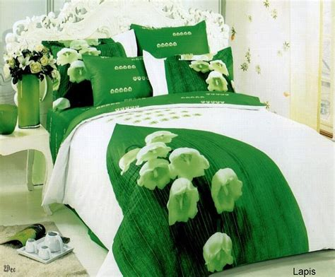 neon green bedding lapis 6 piece full queen bedding lilies of the valley
