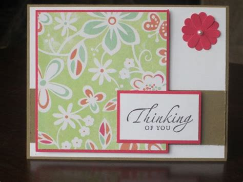Thinking Of You Handmade Cards - thinking of you sympathy handmade greeting card