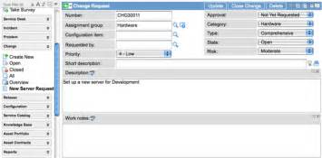 creating a template for change request tasks servicenow wiki