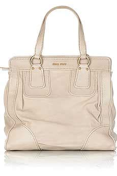 Miu Miu Washed Leather Tote by Leather Wash Bag