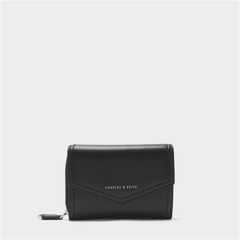Dompet Charles Keith Envelope Black charles keith スモールエンベロープウォレット small envelope wallet