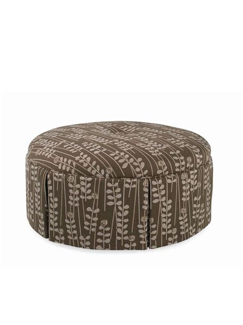 cottage style chairs and ottomans vines landing upholstered ottoman cottage home 174