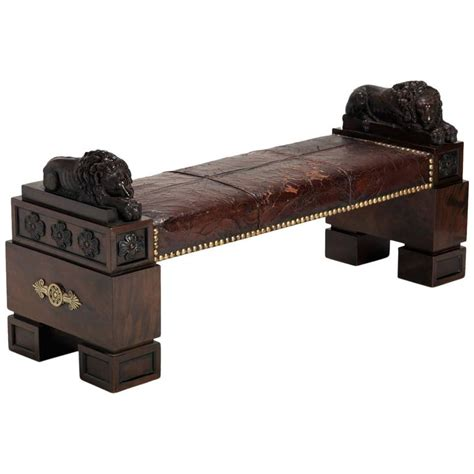 library bench library bench in the manner of thomas hope for sale at 1stdibs