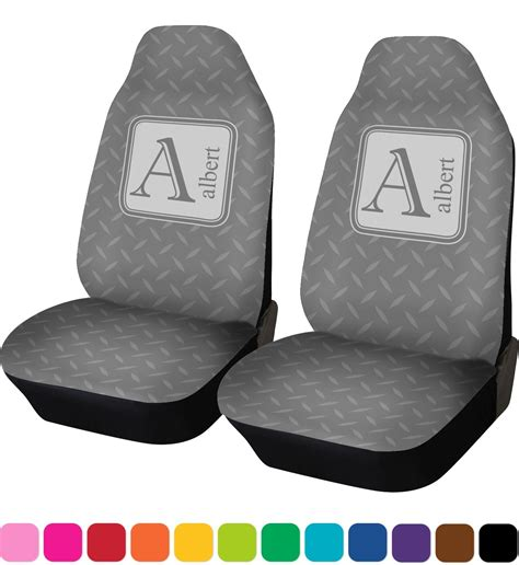 personalised seat covers plate car seat covers set of two personalized