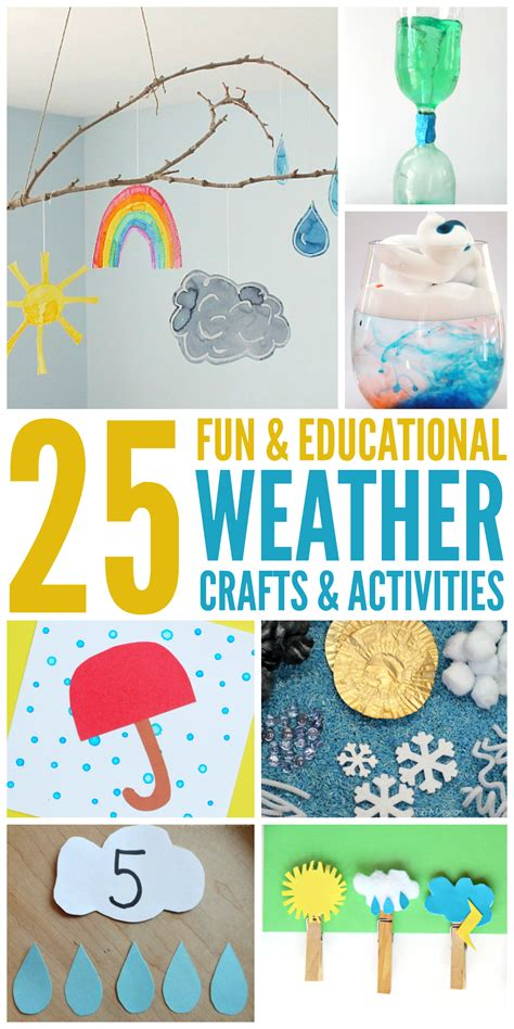 activities and crafts for 25 weather activities and crafts