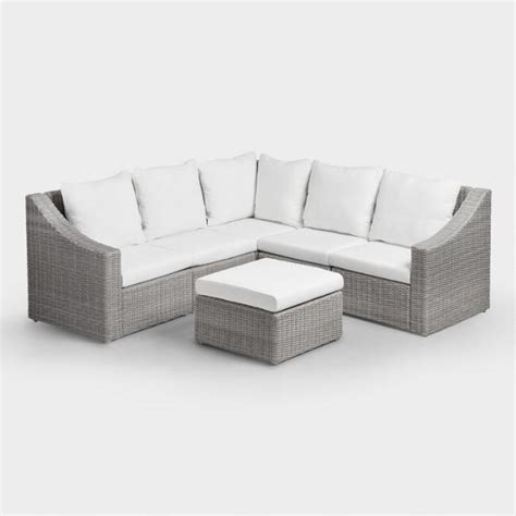 rushreed 3 piece outdoor sectional outdoor sectional sofas amazing patio sectional set