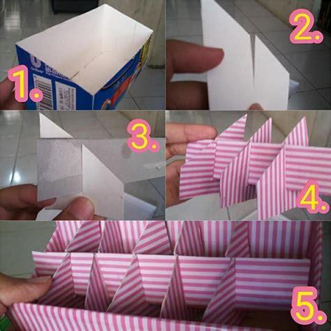 Rak Kosmetik Sederhana kotak makeup dari kardus bekas makeup nuovogennarino