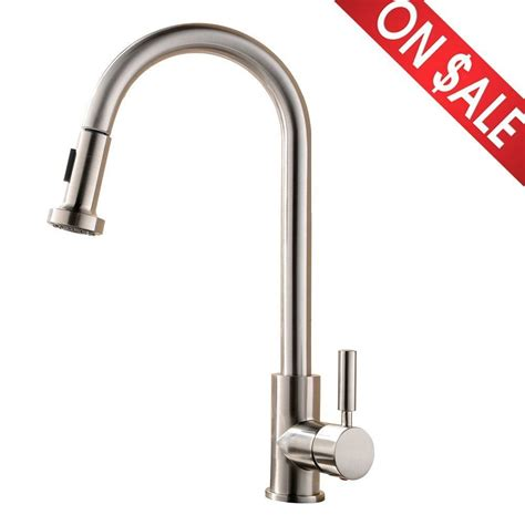 Kitchen Sink Faucet With Sprayer Single Handle Pull Kitchen Bar Sink Faucet Stainless Steel Sprayer Nickel Ebay