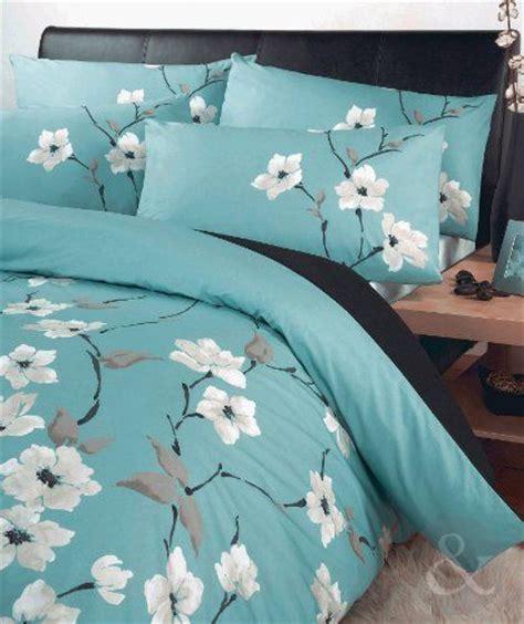 oriental floral duvet cover set luxury poly cotton bedding bed quilt cover sets aqua blue