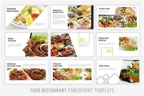 Food Presentation Powerpoint By Brandearth Thehungryjpeg Com Food Powerpoint Templates Free