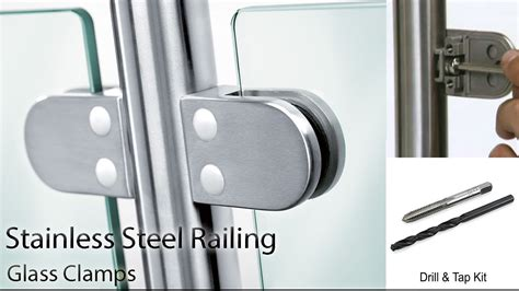 Stainless Steel Railing   How to install Glass Clamps