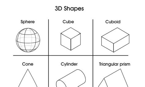 real geometric coloring pages 3d shapes kidspot