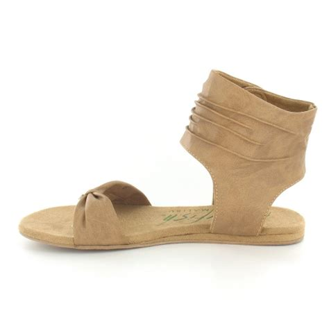 ankle cuff flat sandals blowfish lakota womens pu flat toe post ankle cuff sandals