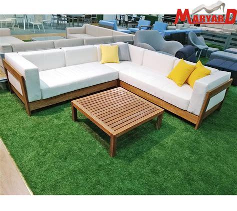 china cheap outdoor garden patio furniture wooden sofa set